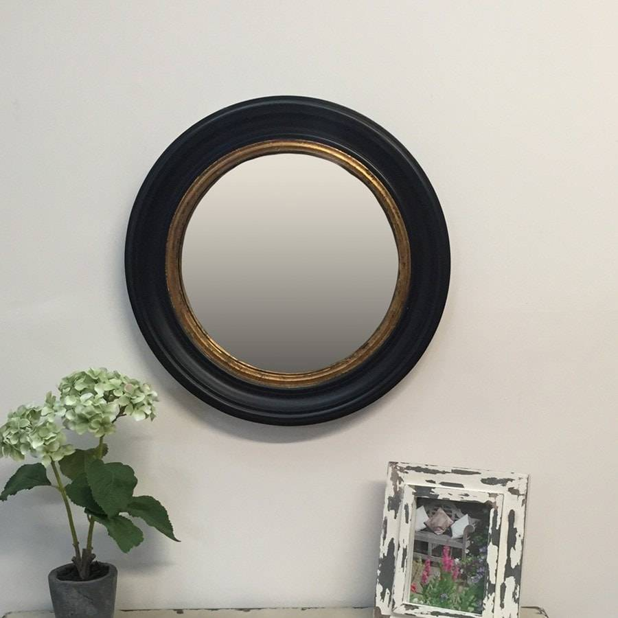 Vintage retro mirrors the farthing for Big black wall mirror