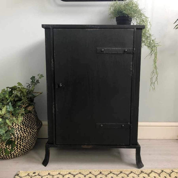 Black Metal Farlington Side Cabinet | The Farthing