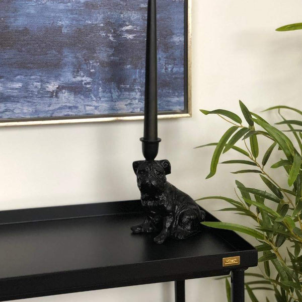 Black Dog Candle Holder at the Farthing 44