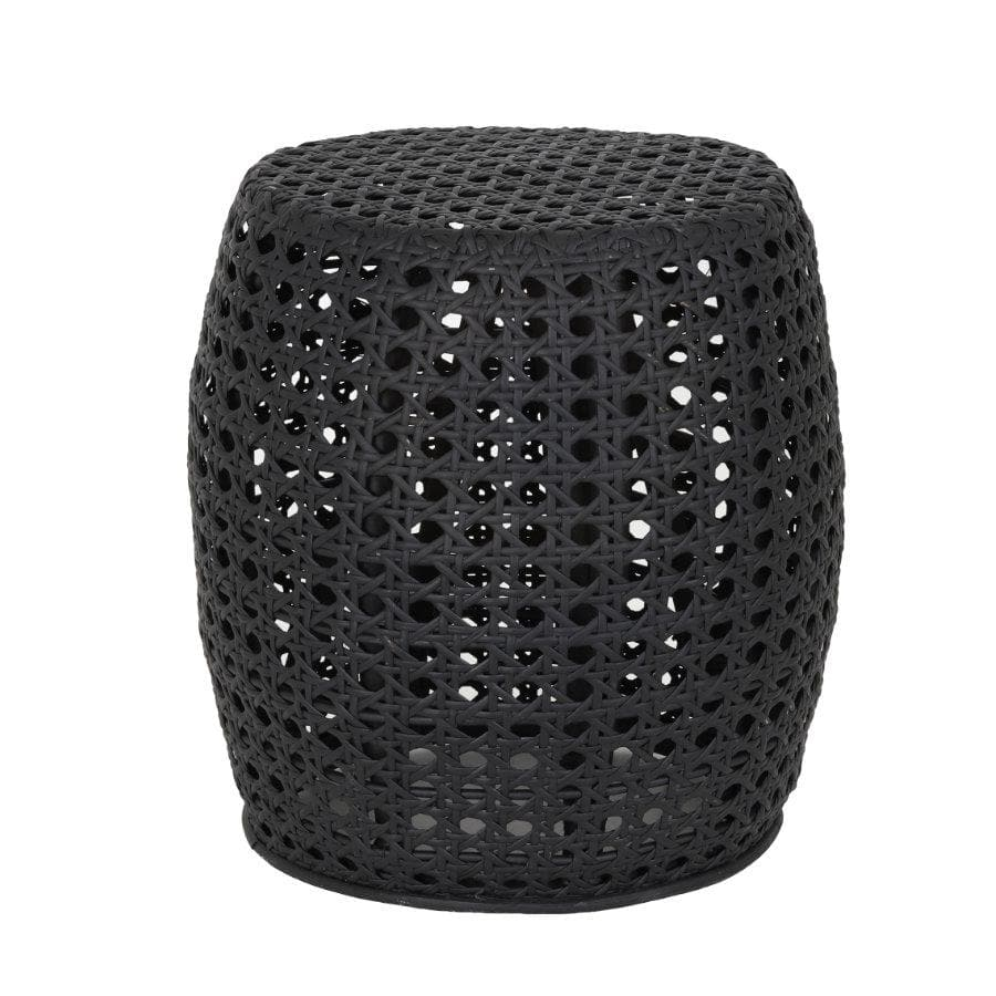 Black Wicker Side Table at the Farthing