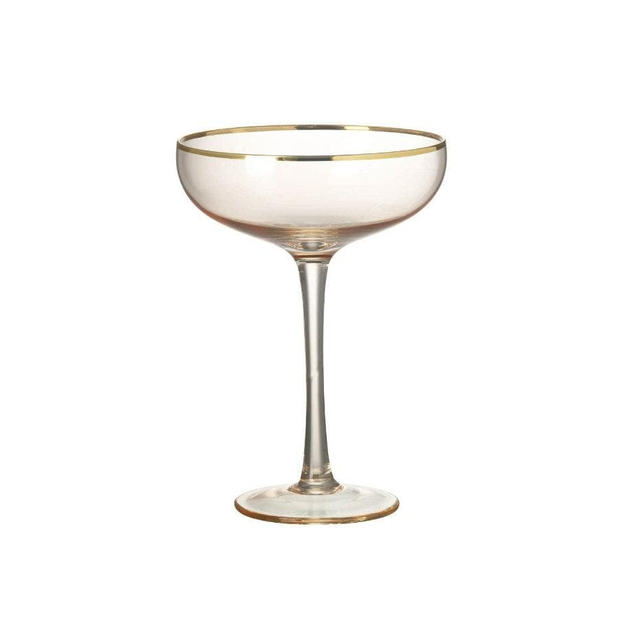 Blush Pink Cocktail / Martini Glass at the Farthing
