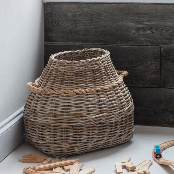 Bottle Laundry Basket - Rattan at the Farthing
