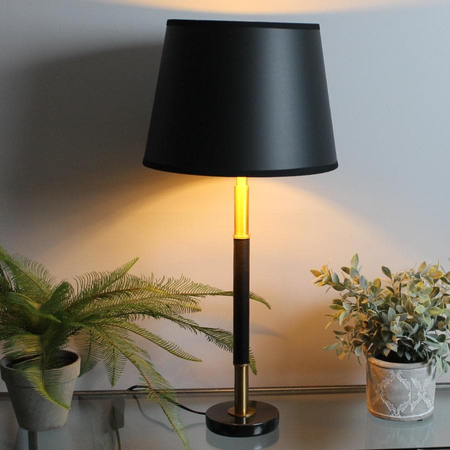 Brass and Black Lina Table Lamp at the Farthing 8