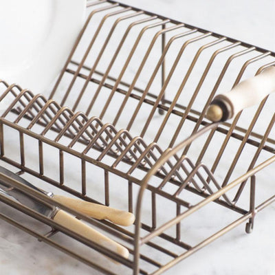 Brompton Dish Rack in Antique Brass Finish | The Farthing 2