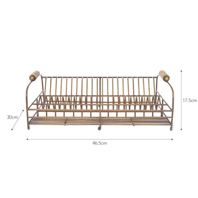 Brompton Dish Rack in Antique Brass Finish | The Farthing 3