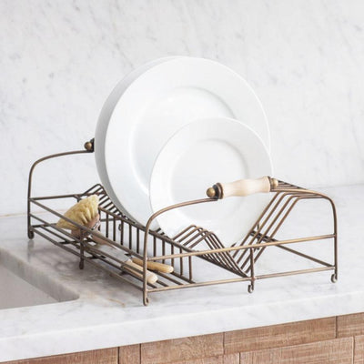 Brompton Dish Rack in Antique Brass Finish | The Farthing