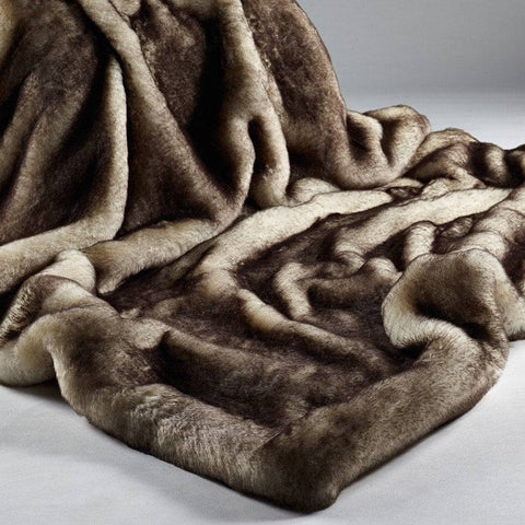 Luxury Soft Faux Fur Husky Throw - Extra Large - The Farthing  - 1