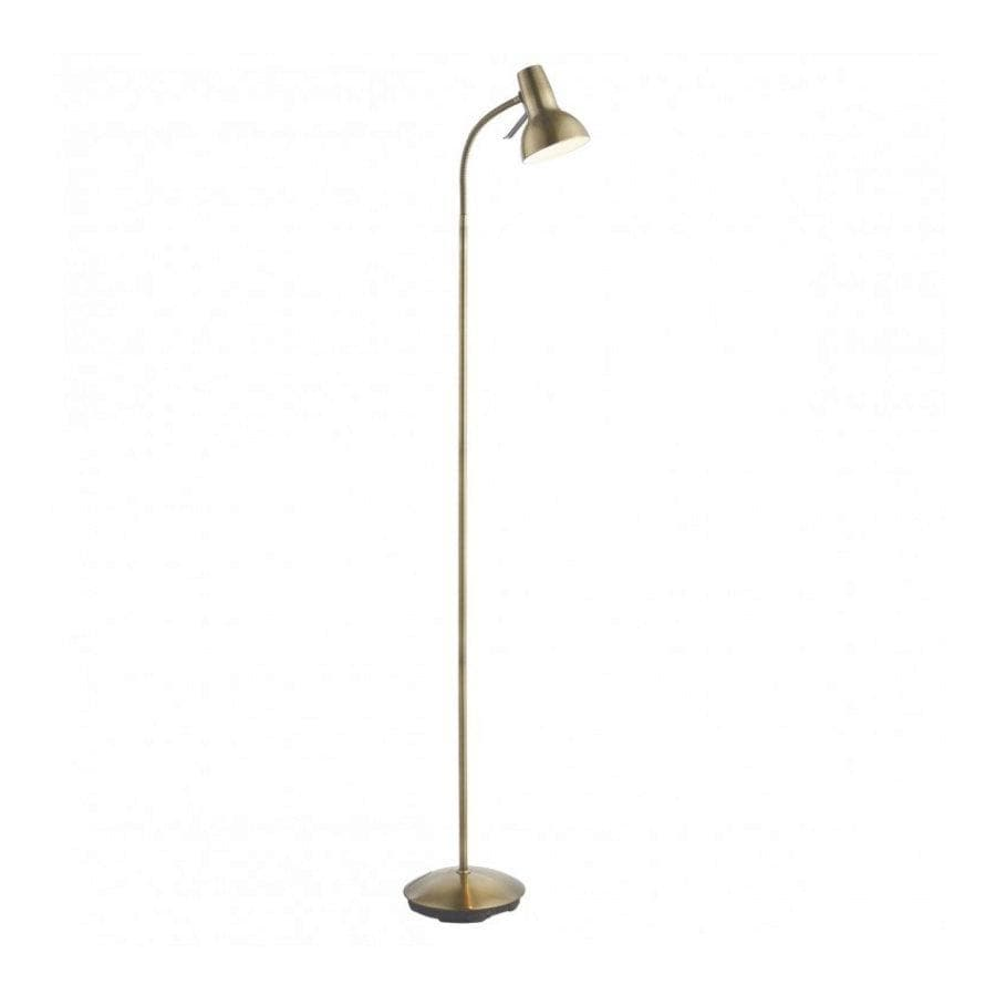 Burnished Brass Floor Lamp at the Farthing