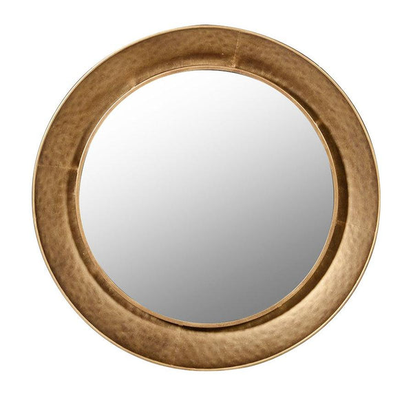 Burnished Gold Large Round Kimberley Wall Mirror | The Farthing