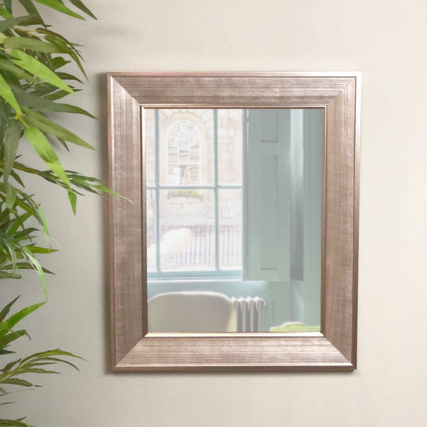 Burnished Silver Rectangle Wall Mirror | Farthing