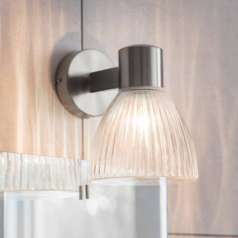Camden Bathroom Wall Light - Satin Nickel | Farthing