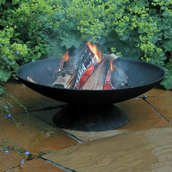 Cast Iron Wood Fire Pit Brazier - Large - The Farthing
