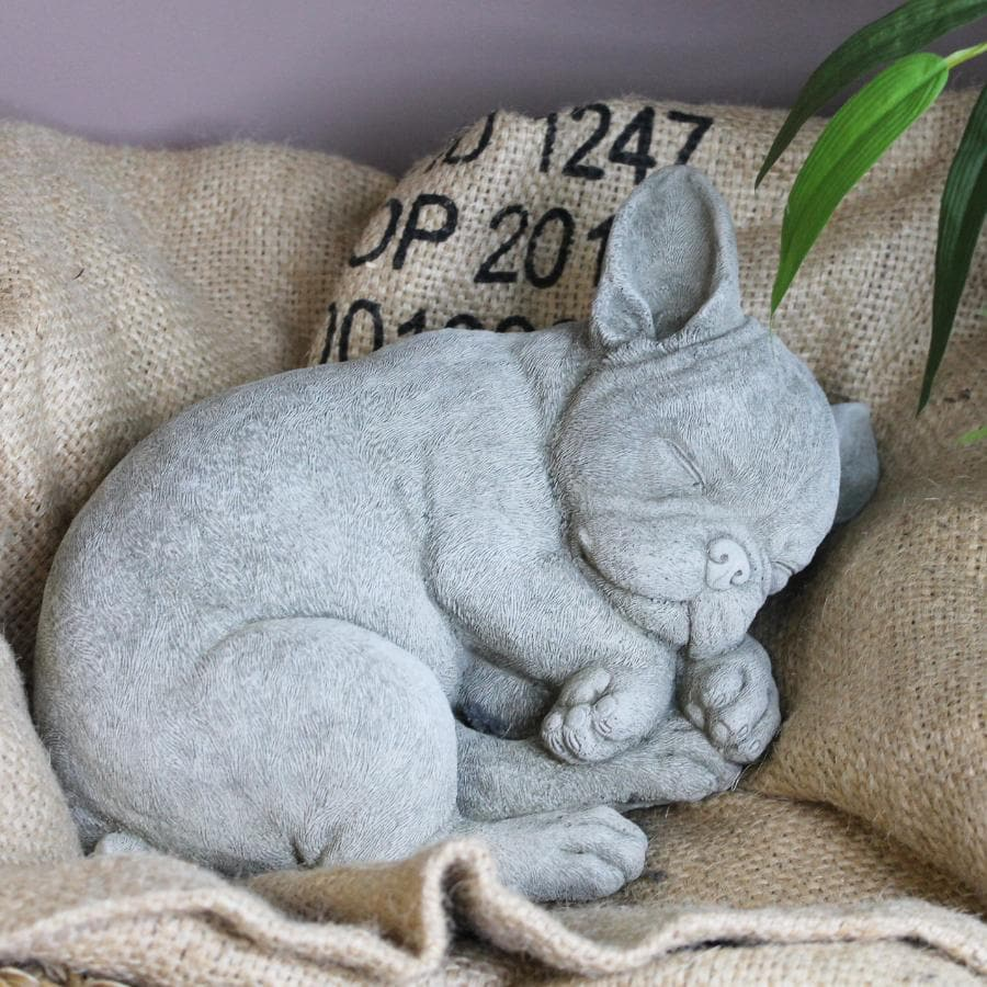 Cement French Bulldog Puppy Ornament at the Farthing