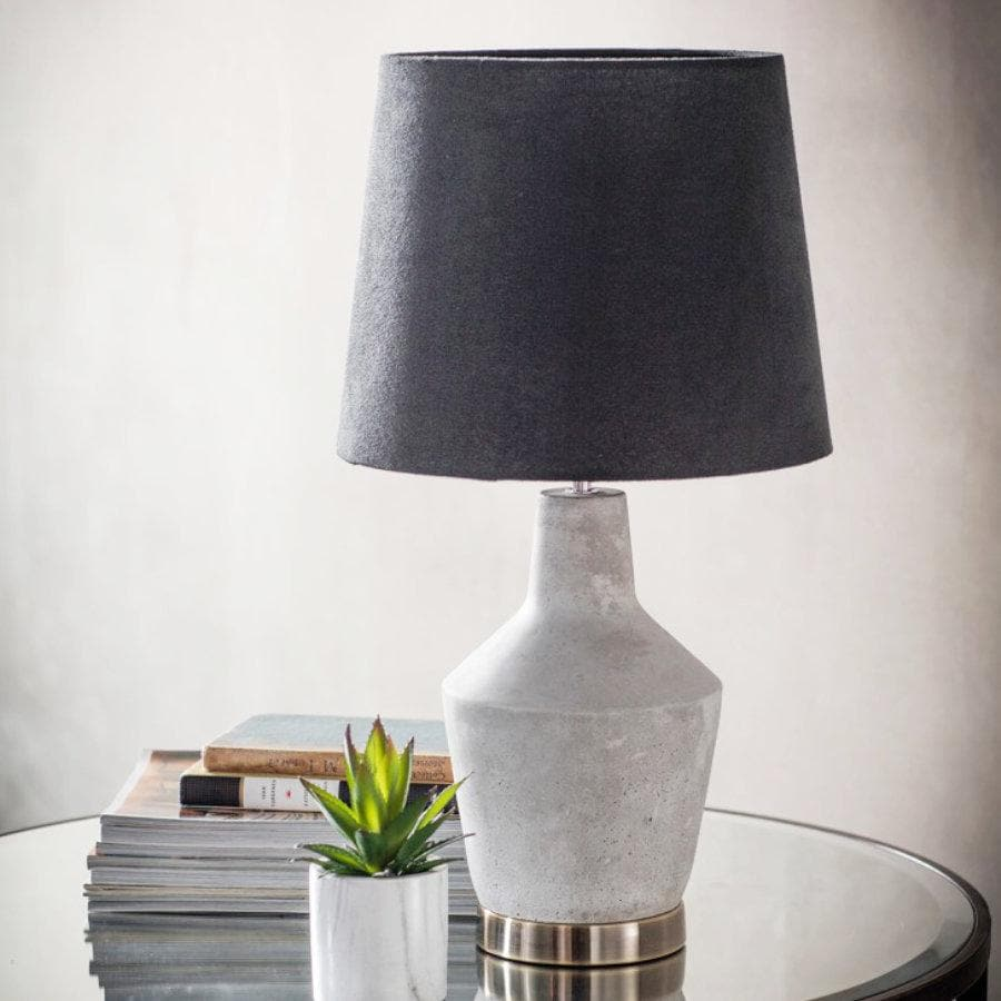 Cement Table Lamp at the Farthing