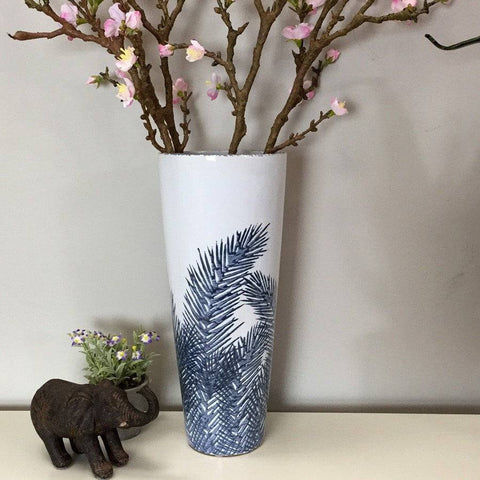 Ceramic Angel Fern Vase - The Farthing