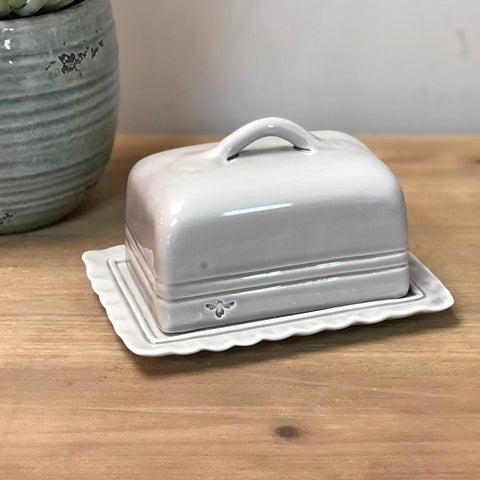 Ceramic Broadwindsor Butter Dish - Grey - Farthing 1