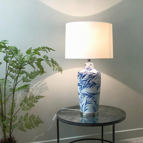 Ceramic Leaf Table Lamp & Shade at the Farthing 2