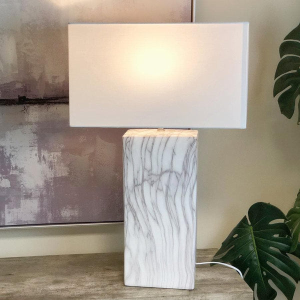 Ceramic Tones Table Lamp & Shade at the Farthing 1