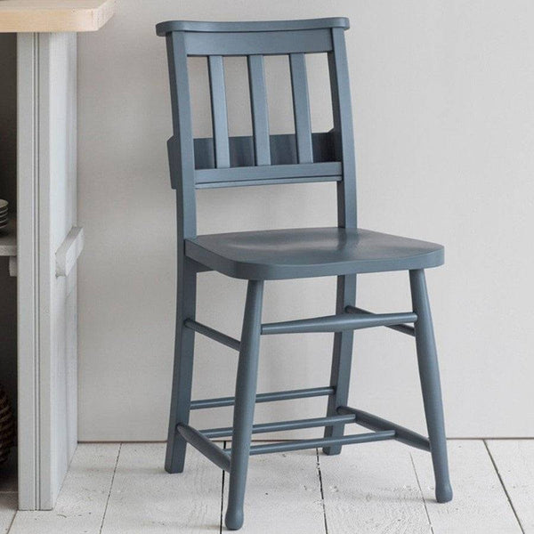 Wooden Chapel Dining Chair - Charcoal - The Farthing