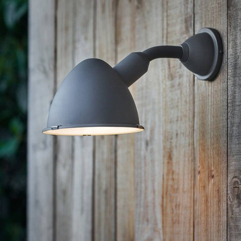 Chic Metal Cheyne Outdoor Wall Light- Charcoal - The Farthing