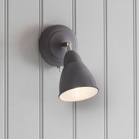 Chic Beaminster Wall Light in Charcoal - The Farthing  - 1