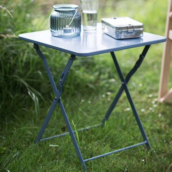 Chic Folding Picnic Table in Dorset Blue - The Farthing