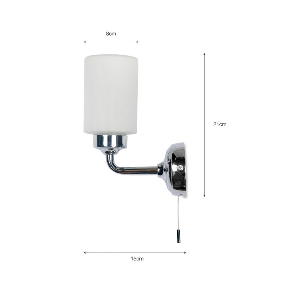 Bathroom wall lights with pull cord -  Chic Greenwich Bathroom Wall Light In Chrome Pull Cord The Farthing 2