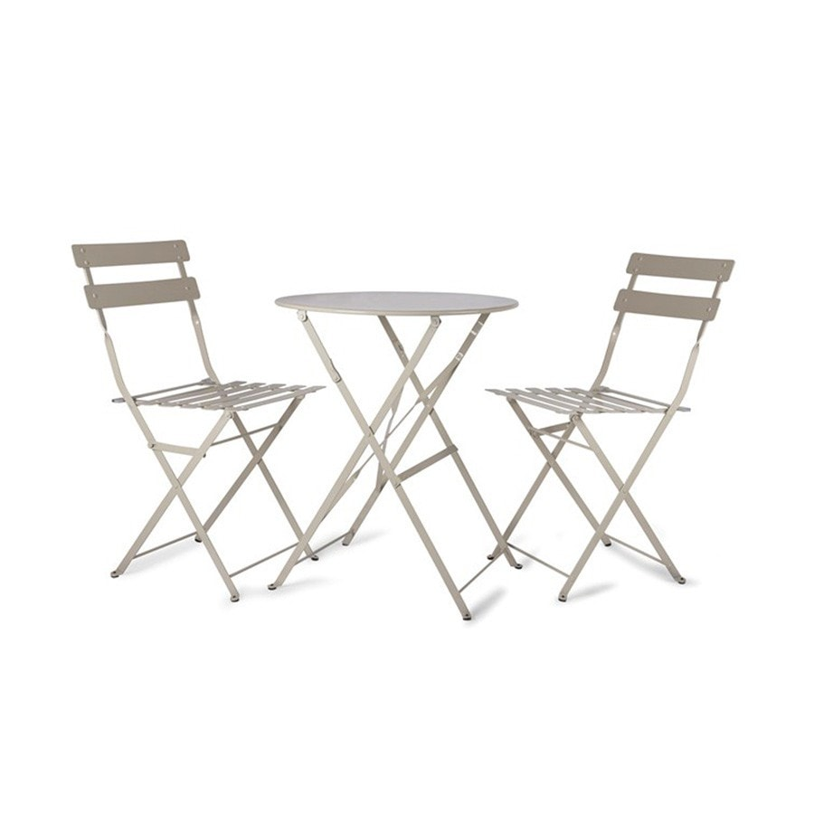 Clay Metal Bistro Set of Table & Two Chairs - The Farthing