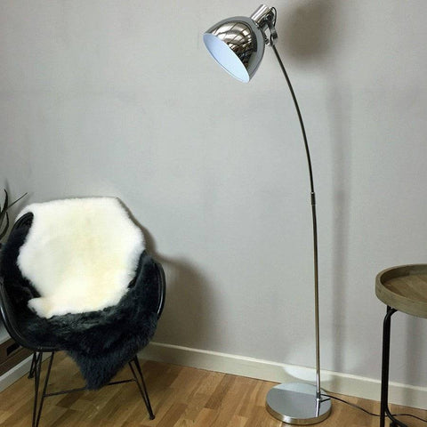 Chrome Leaning Floor Lamp - The Farthing