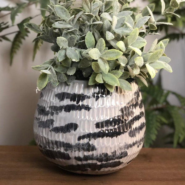 Coletas Blue Grey Plant Pot | The Farthing