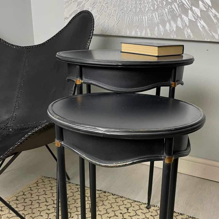 Curved Sides Industrial Table Set | Farthing