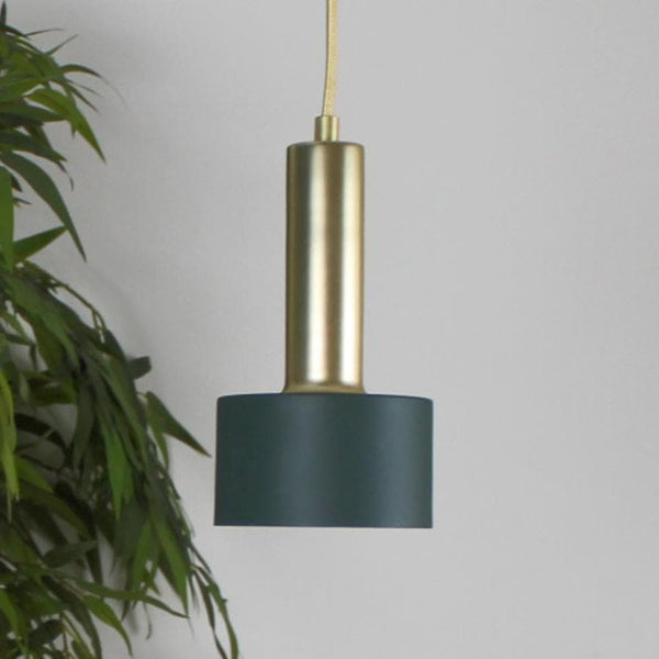 Dark Green Saucer Pendant Light - Small at the Farthing 1