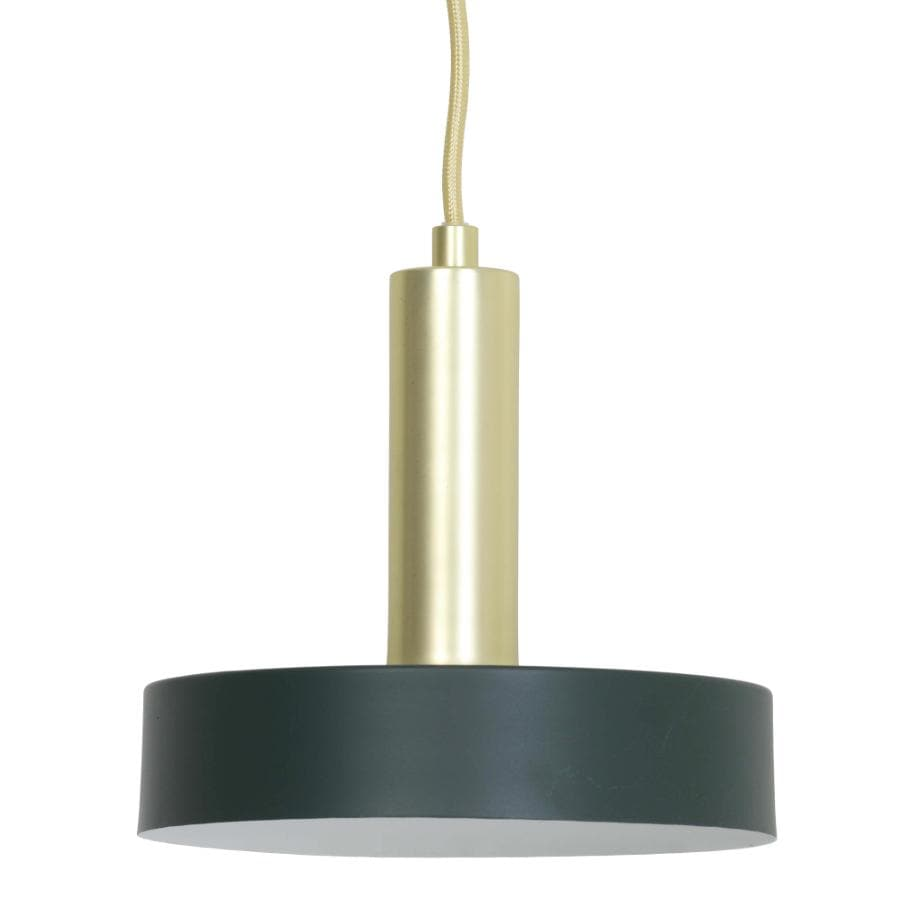 Dark Green Saucer Pendant Light - metal | The Farthing