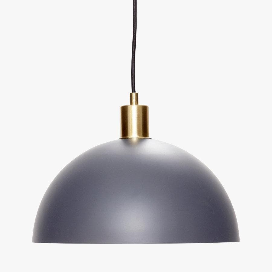 Dark Grey Pendant Light at the Farthing