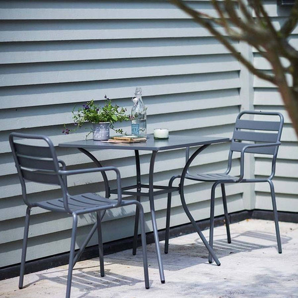 Dean Street Square Table & 2 Chair Set - Charcoal - The Farthing  - 1