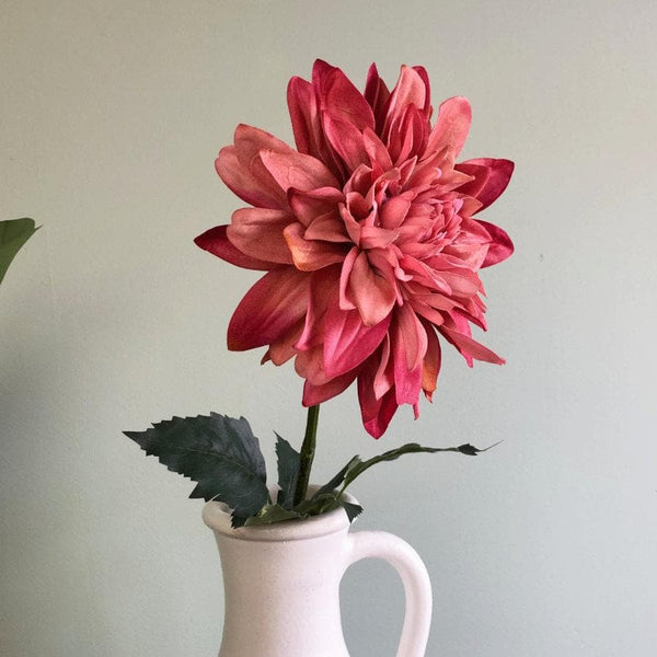 Deep Pink Faux Dahlia Stem at the Farthing 1