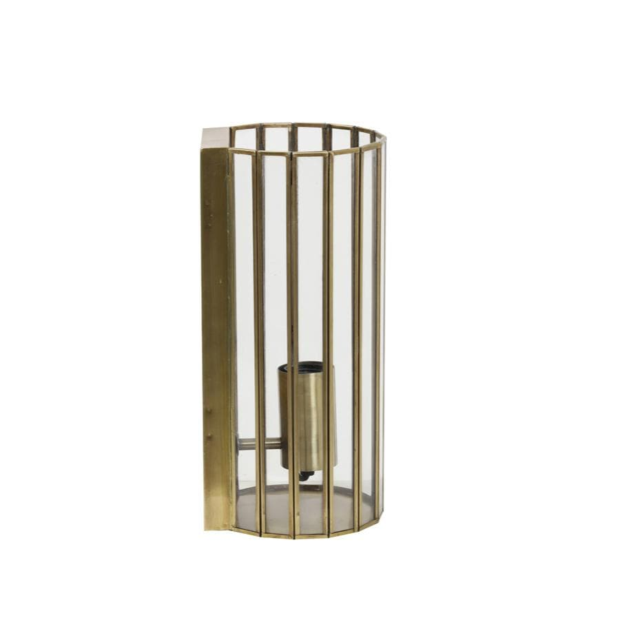 Delicate Frame Brass & Glass Wall Light 1