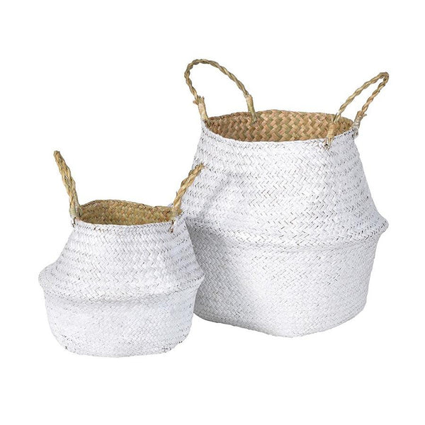 Dipped White Seagrass Basket Set | Farthing