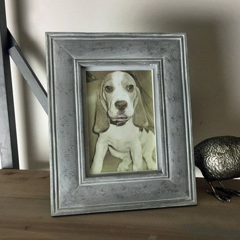 Distressed Flint Grey Photo Frame - The Farthing