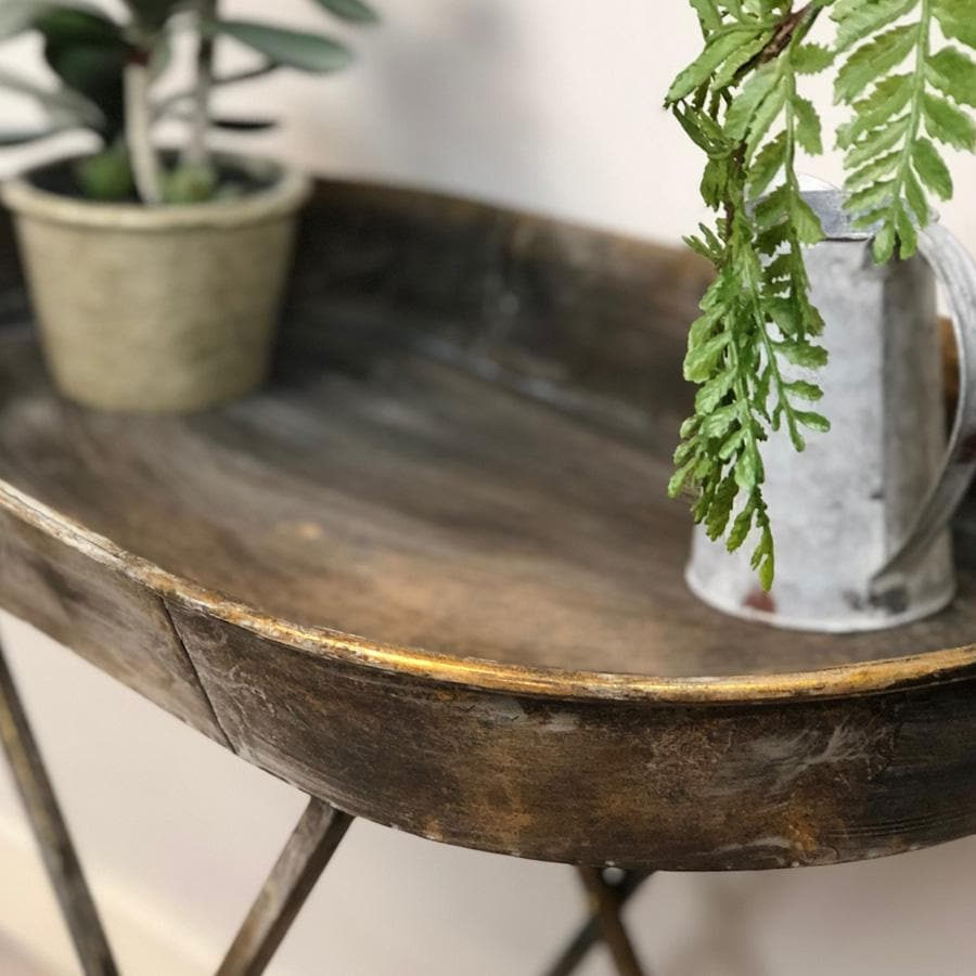 Distressed Gold Side Table | Farthing