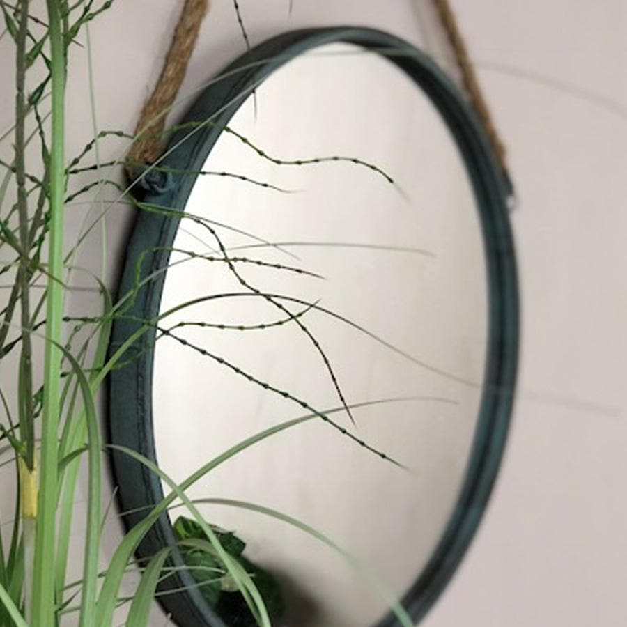 Distressed Hanging Rope Mirror 2