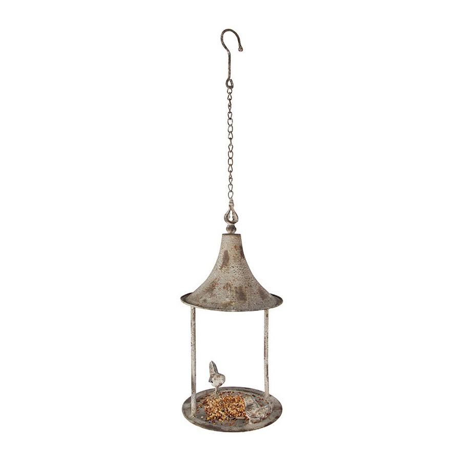 Distressed Metal Hanging Bird Feeder 3