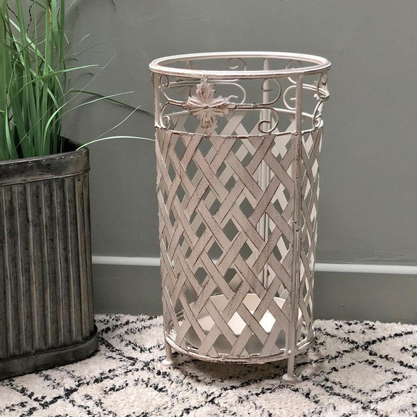 Distressed Metal Umbrella Stand at the Farthing
