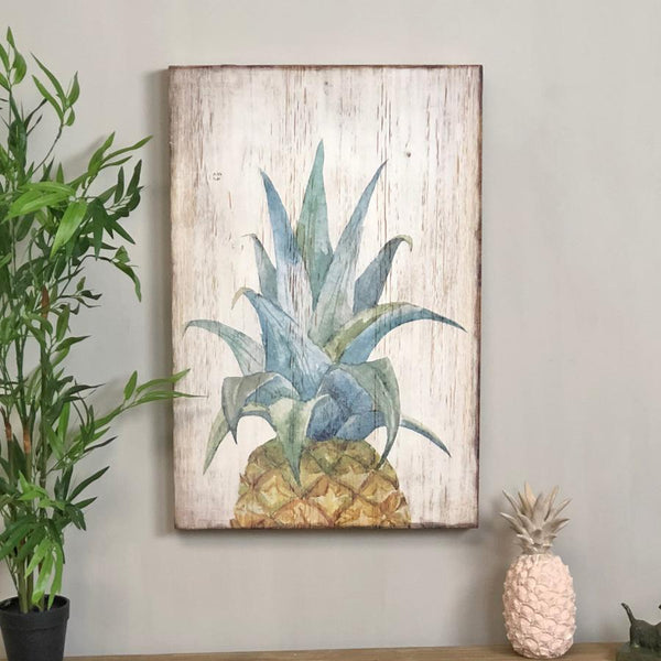 Distressed Pineapple Wall Art | Farthing