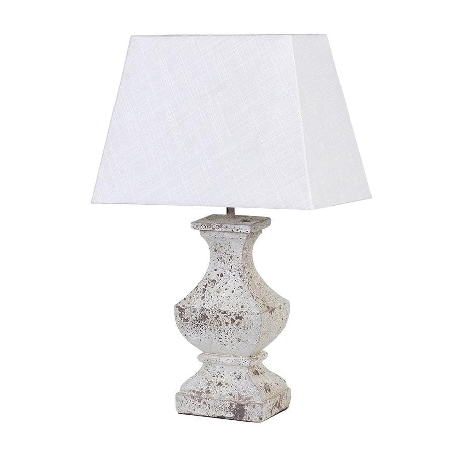 Distressed White Wooden Table Lamp & Shade | shabby chic ...