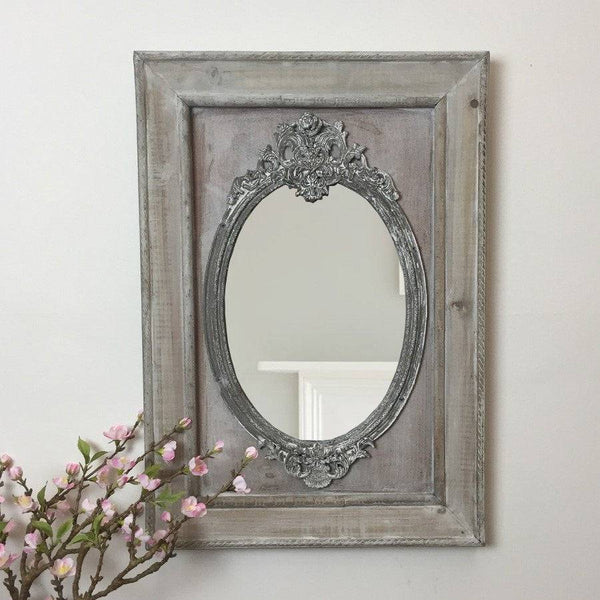 Distressed Wooden Parisian Mirror - The Farthing