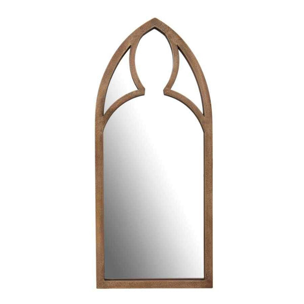 Distressed Golden Arched Wall Mirror 1