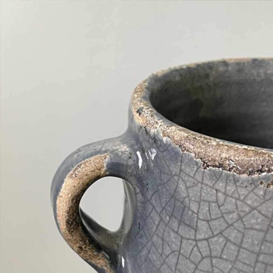 Distressed Grey Crackle Pitcher Ornament
