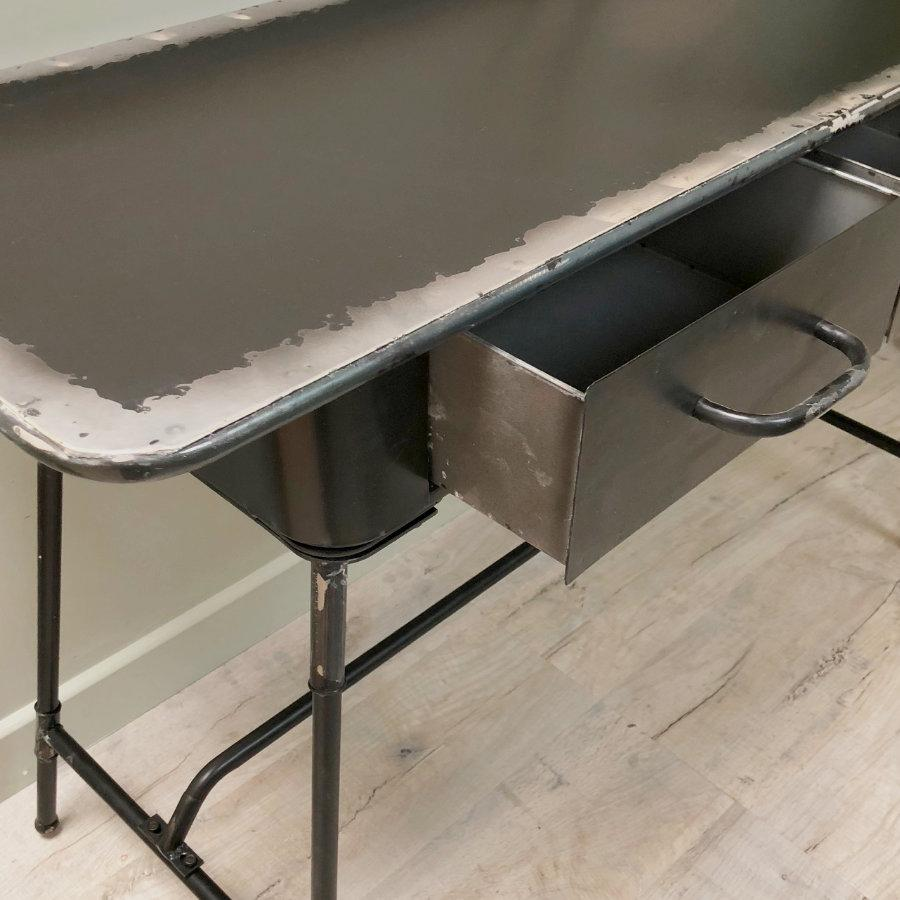 Distressed Black Console Table at the Farthing  1