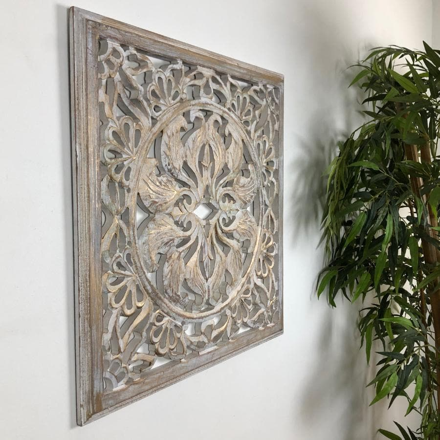 Distressed Carved Wall Panel | Farthing